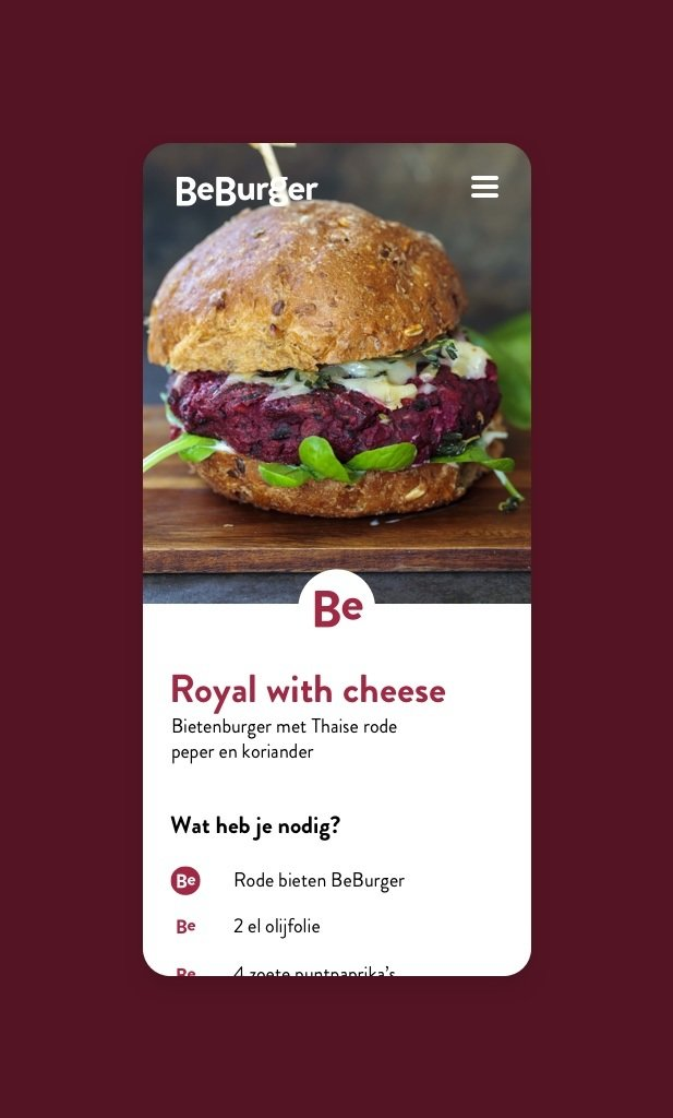 Beburger website