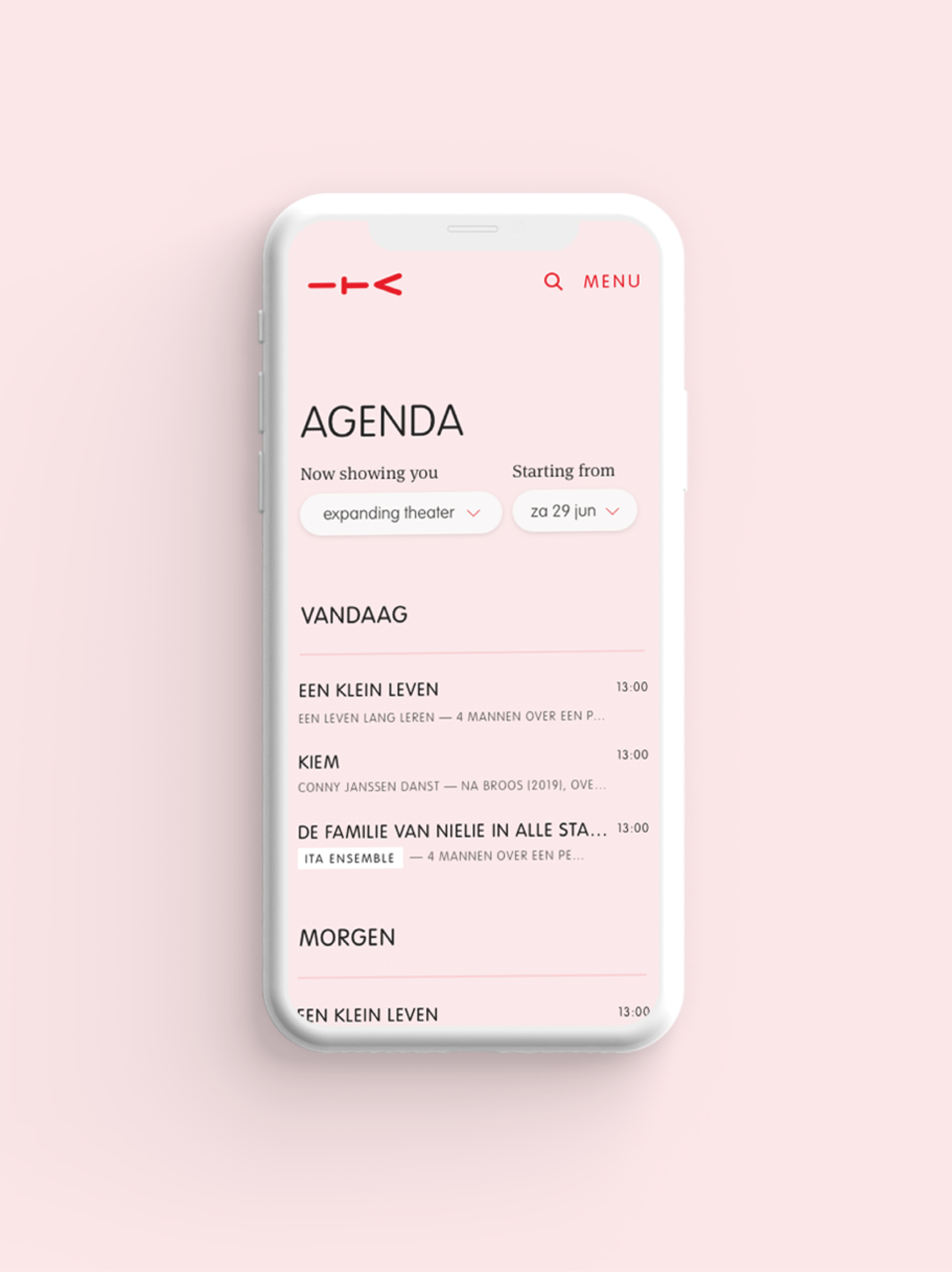 Agenda mobile view ITA