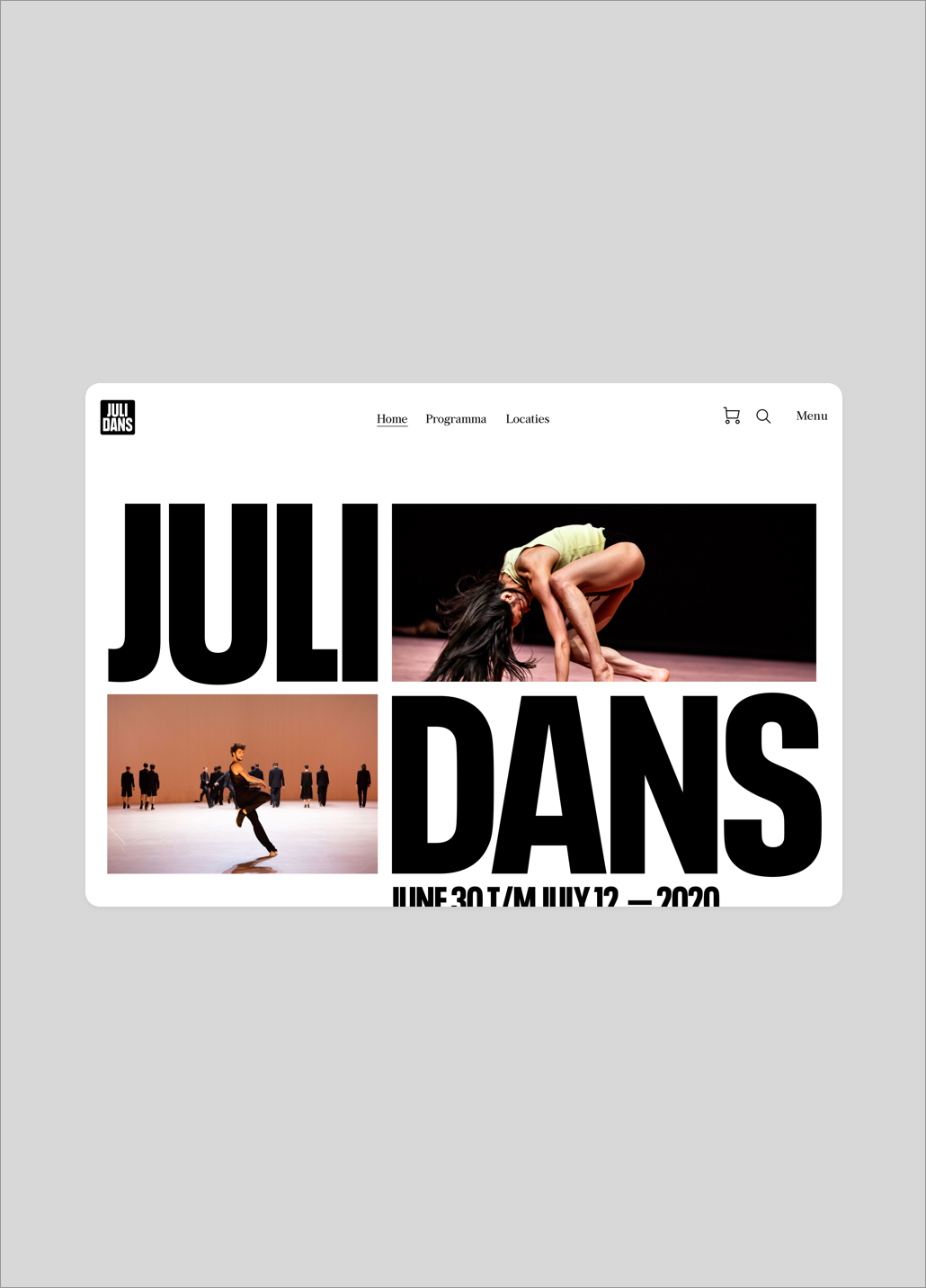 Julidans festival website